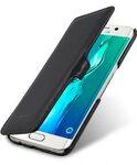 Melkco Premium Leather Case for Samsung Galaxy S6 Edge Plus - Booka Type (Black Nappa Leather)