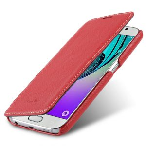 Melkco Premium Leather Case for Samsung Galaxy S7 - Face Cover Book Type (Red LC) Ver.3