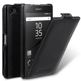 Melkco Premium Leather Case for Sony Xperia Z5 Compact  – Jacka Type (Black LC)