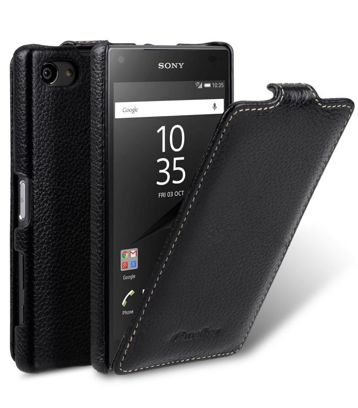 Melkco Premium Leather Case for Sony Xperia Z5 Compact - Jacka Type (Black LC)