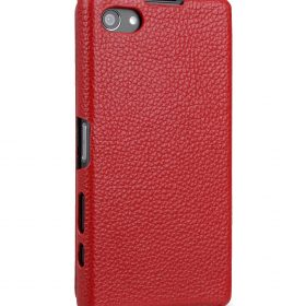 Melkco Premium Leather Case for Sony Xperia Z5 Compact  – Jacka Type (Red LC)