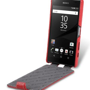 Melkco Premium Leather Case for Sony Xperia Z5 Compact - Jacka Type (Red LC)