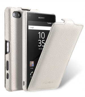 Premium Leather Case for Sony Xperia Z5 Compact - Jacka Type