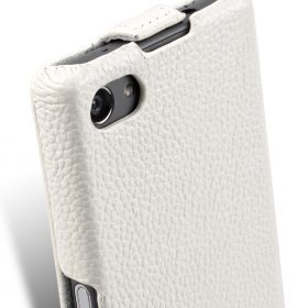 Melkco Premium Leather Case for Sony Xperia Z5 Compact  – Jacka Type (White LC)