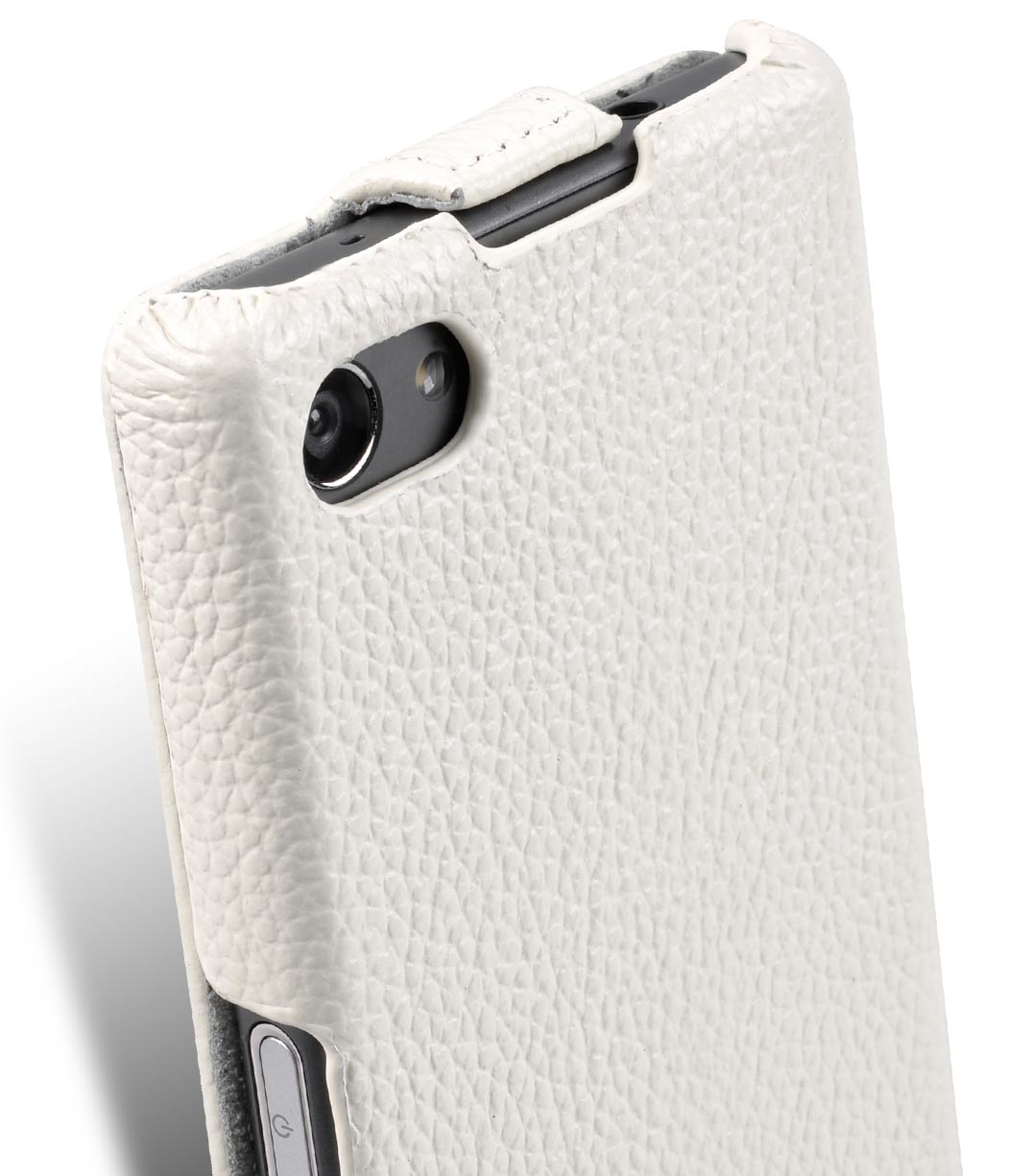 Melkco Premium Leather Case for Sony Xperia Z5 Compact - Jacka Type (White LC)
