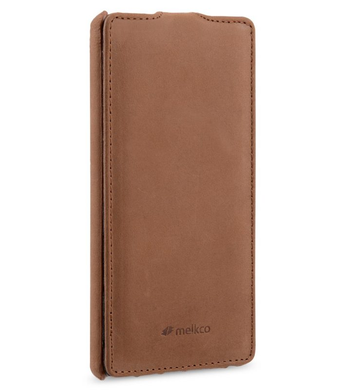 Melkco Premium Leather Case for Sony Xperia Z5 - Jacka Type (Classic Vintage Brown)