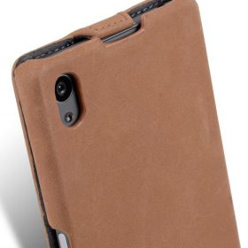 Melkco Premium Leather Case for Sony Xperia Z5 – Jacka Type (Classic Vintage Brown)