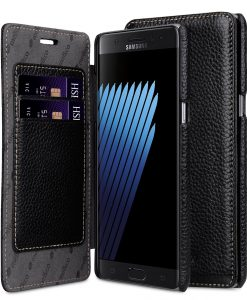 Melkco Premium Leather Face Cover Book Type Case for Samsung Galaxy Note 7 - Black LC