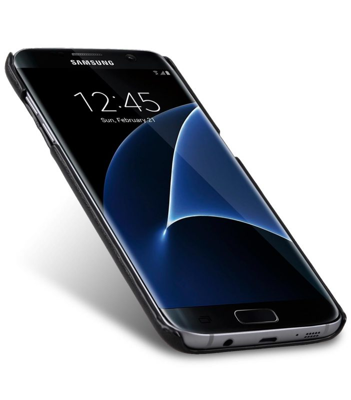 Melkco Triple Card slot back cover for Samsung Galaxy S7 Edge - Black PU