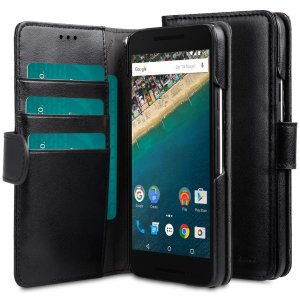Melkco wallet book case for LG Nexus 5X - Black PU