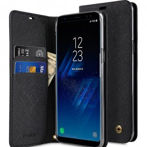 Melkco Fashion Cocktail Series Slim Flip Case for Samsung Galaxy S8 (Black Cross Pattern)