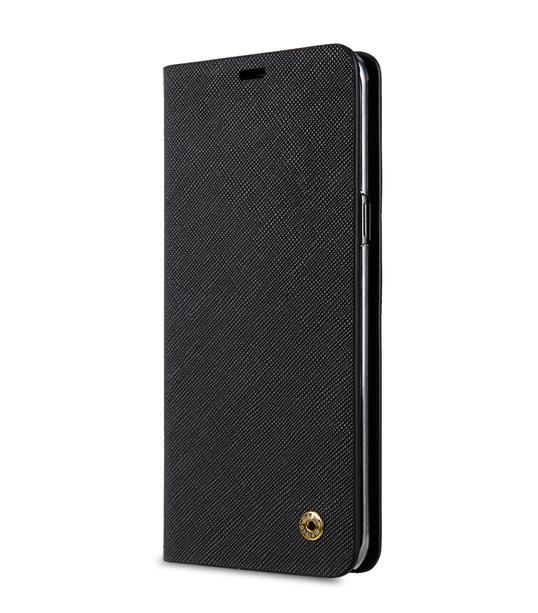 Melkco Fashion Cocktail Series Slim Flip Case for Samsung Galaxy S8 Plus (Black Cross Pattern)