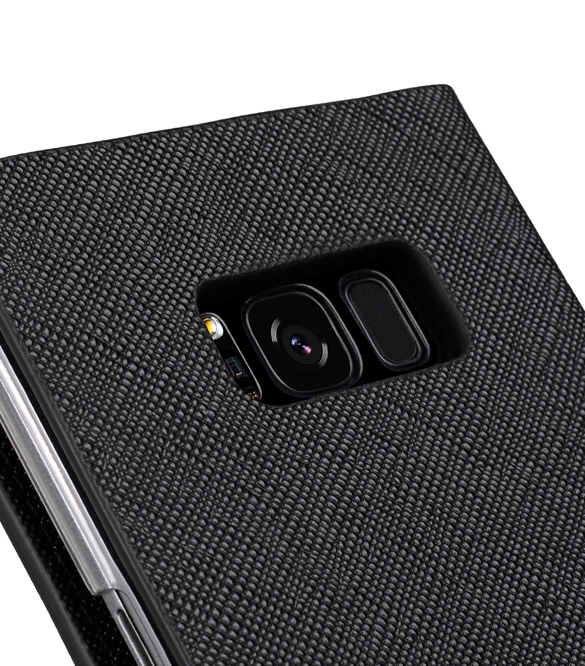 Melkco Fashion Cocktail Series Slim Flip Case for Samsung Galaxy S8 (Black Cross Pattern)
