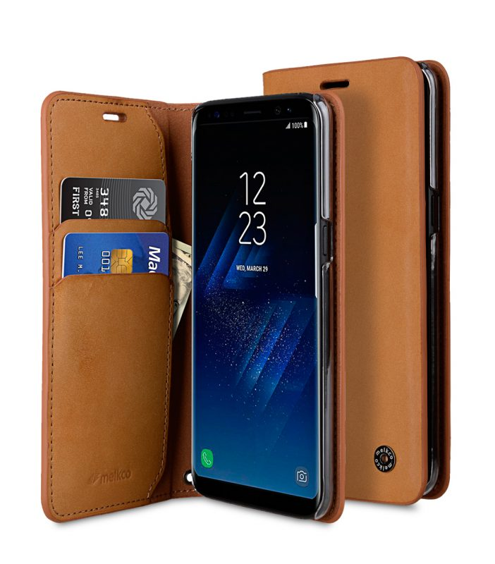 Fashion Premium Leather Herman Stand Case for Samsung Galaxy S8 Plus - (Vegetable Leather)