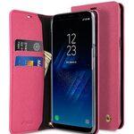 Melkco Fashion Cocktail Series Slim Flip Case for Samsung Galaxy S8 (Peach Cross Pattern)