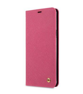 Melkco Fashion Cocktail Series Slim Flip Case for Samsung Galaxy S8 Plus (Peach Cross Pattern)