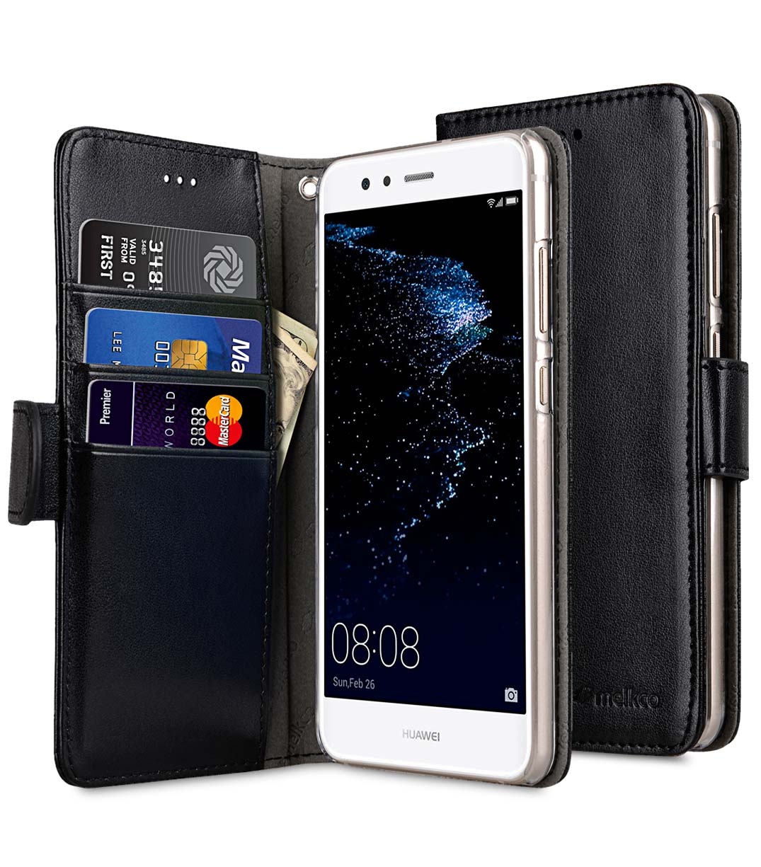 new arrival 3c82e ebd98 PU Cases Wallet Book Clear Type for Huawei P10 lite - (Black PU)