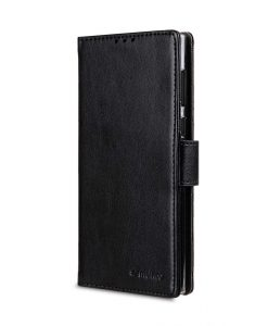 Mini PU Cases Wallet Book Clear Type for Sony Xperia L1 - (Black PU)