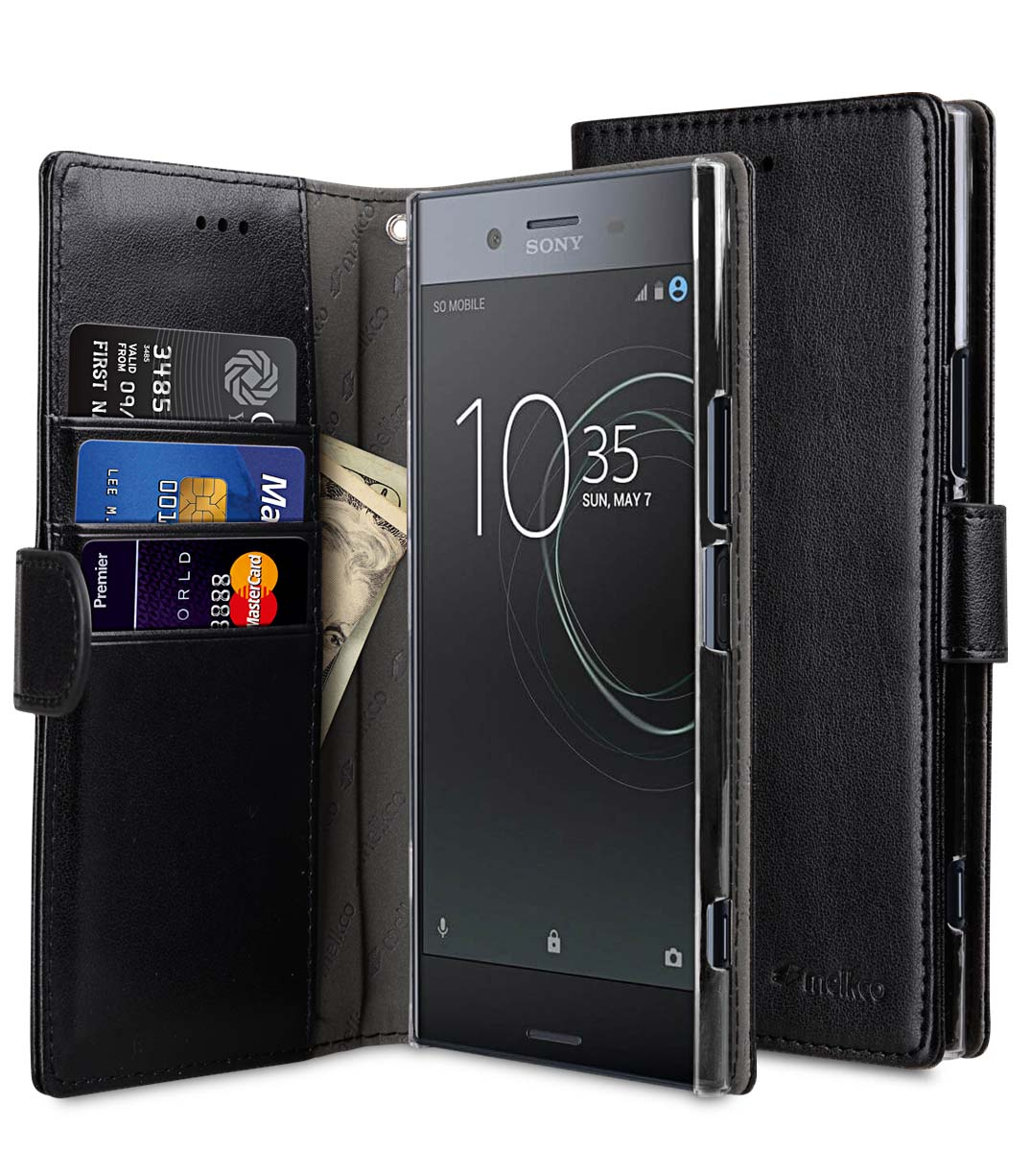more photos 83730 a3761 PU Cases Wallet Book Clear Type for Sony Xperia XZ Premium - (Black PU)