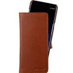 Premium Leather Case for Samsung Galaxy S8 Plus - Alphard Type (Orange Brown)