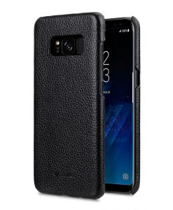 Melkco Premium Leather Case for Samsung Galaxy S8 - Snap Cover ( Black LC )