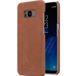Premium Leather Case for Samsung Galaxy S8 Plus - Snap Cover (Classic Vintage Brown)