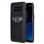 Melkco Premium Leather Case for Samsung Galaxy S8 Plus - Card Slot Back Cover V2 ( Black )