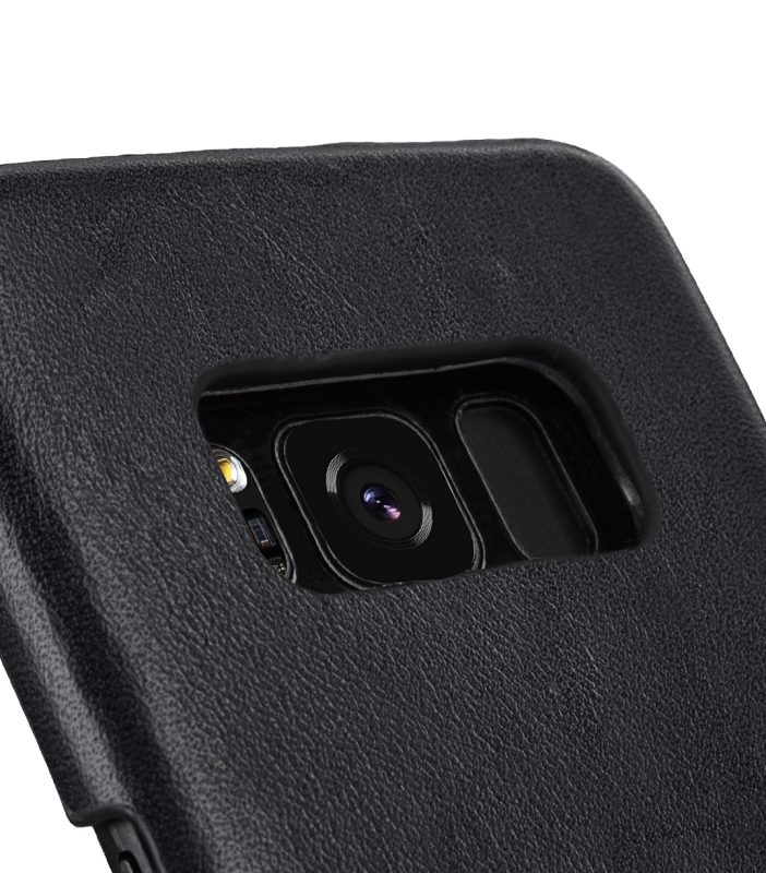 Melkco Premium Leather Case for Samsung Galaxy S8 Plus - Card Slot Back Cover V2 ( Black )