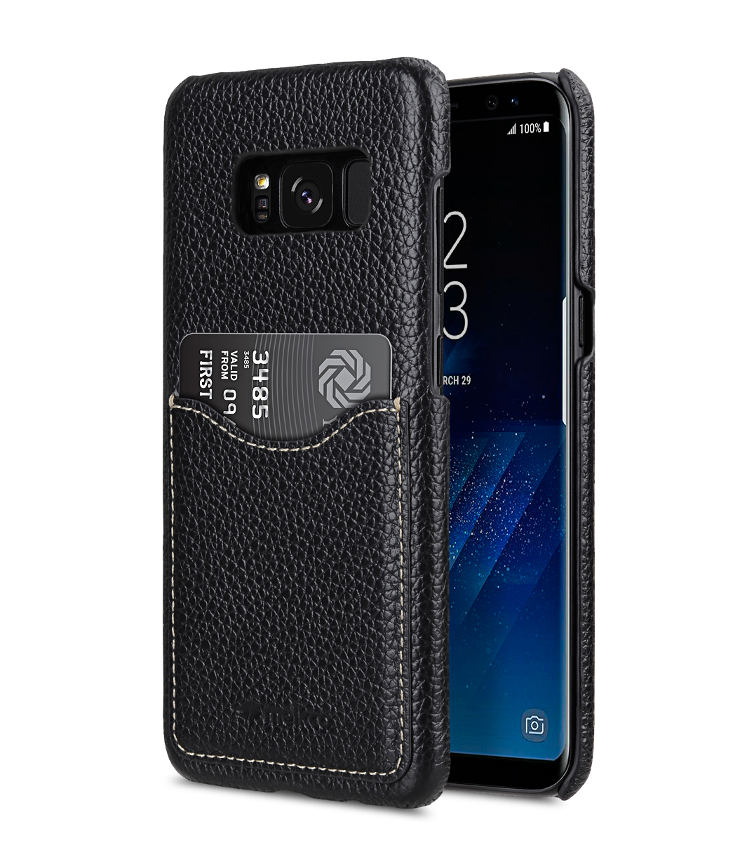 Premium Leather Case for Samsung Galaxy S8 Plus - Card Slot Back Cover