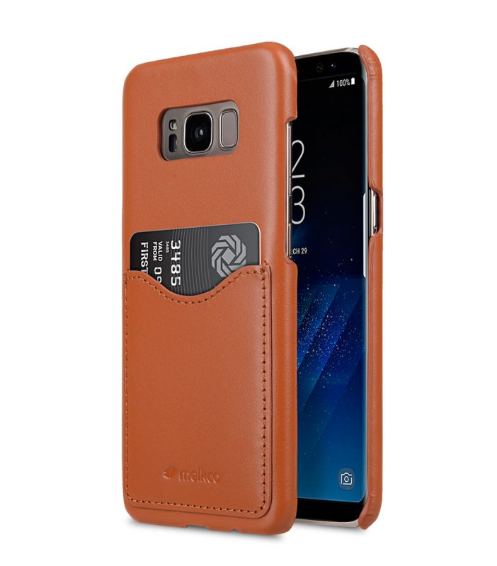 Melkco Premium Leather Card Slot Back Cover V2 for Samsung Galaxy S8 - ( Brown )