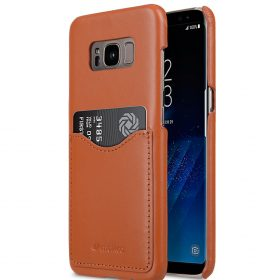 Melkco Premium Leather Card Slot Back Cover V2 for Samsung Galaxy S8 Plus – ( Brown )