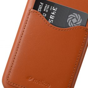 Melkco Premium Leather Card Slot Back Cover V2 for Samsung Galaxy S8 – ( Brown )