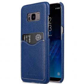 Melkco Premium Leather Card Slot Back Cover V2 for Samsung Galaxy S8 – ( Dark Blue LC )