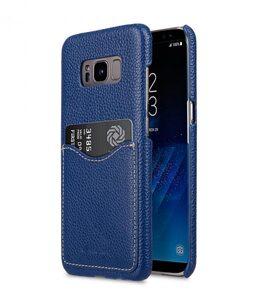 Melkco Premium Leather Card Slot Back Cover V2 for Samsung Galaxy S8 - ( Dark Blue LC )