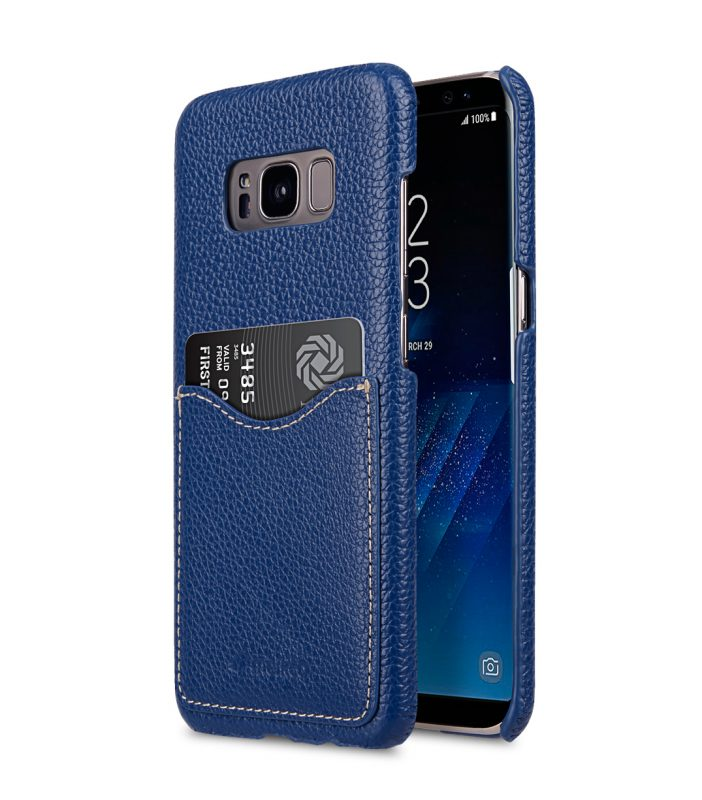 Melkco Premium Leather Card Slot Back Cover V2 for Samsung Galaxy S8 - ( Dark Blue LC )