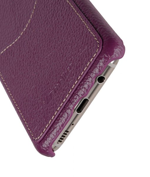 Melkco Premium Leather Card Slot Back Cover V2 for Samsung Galaxy S8 - ( Purple LC )