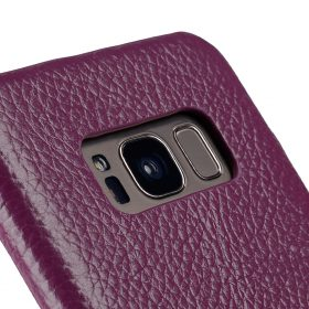 Melkco Premium Leather Card Slot Back Cover V2 for Samsung Galaxy S8 – ( Purple LC )