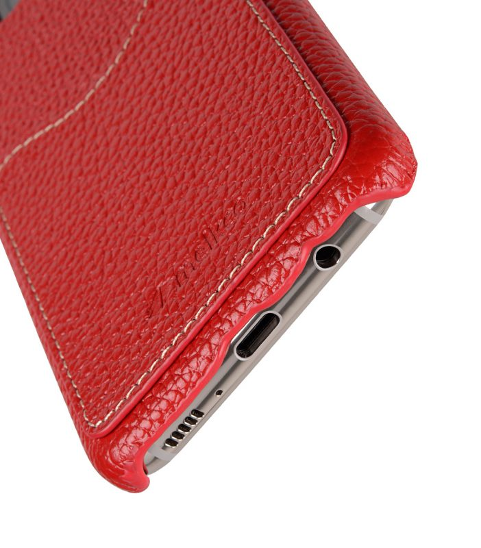 Melkco Premium Leather Card Slot Back Cover V2 for Samsung Galaxy S8 Plus - ( Red LC )