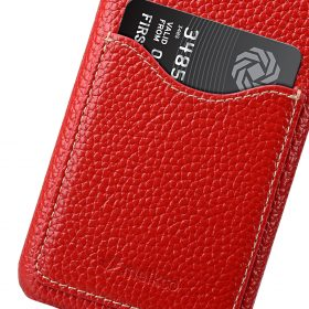 Melkco Premium Leather Card Slot Back Cover V2 for Samsung Galaxy S8 Plus – ( Red LC )