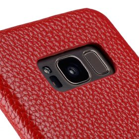 Melkco Premium Leather Card Slot Back Cover V2 for Samsung Galaxy S8 – ( Red LC )