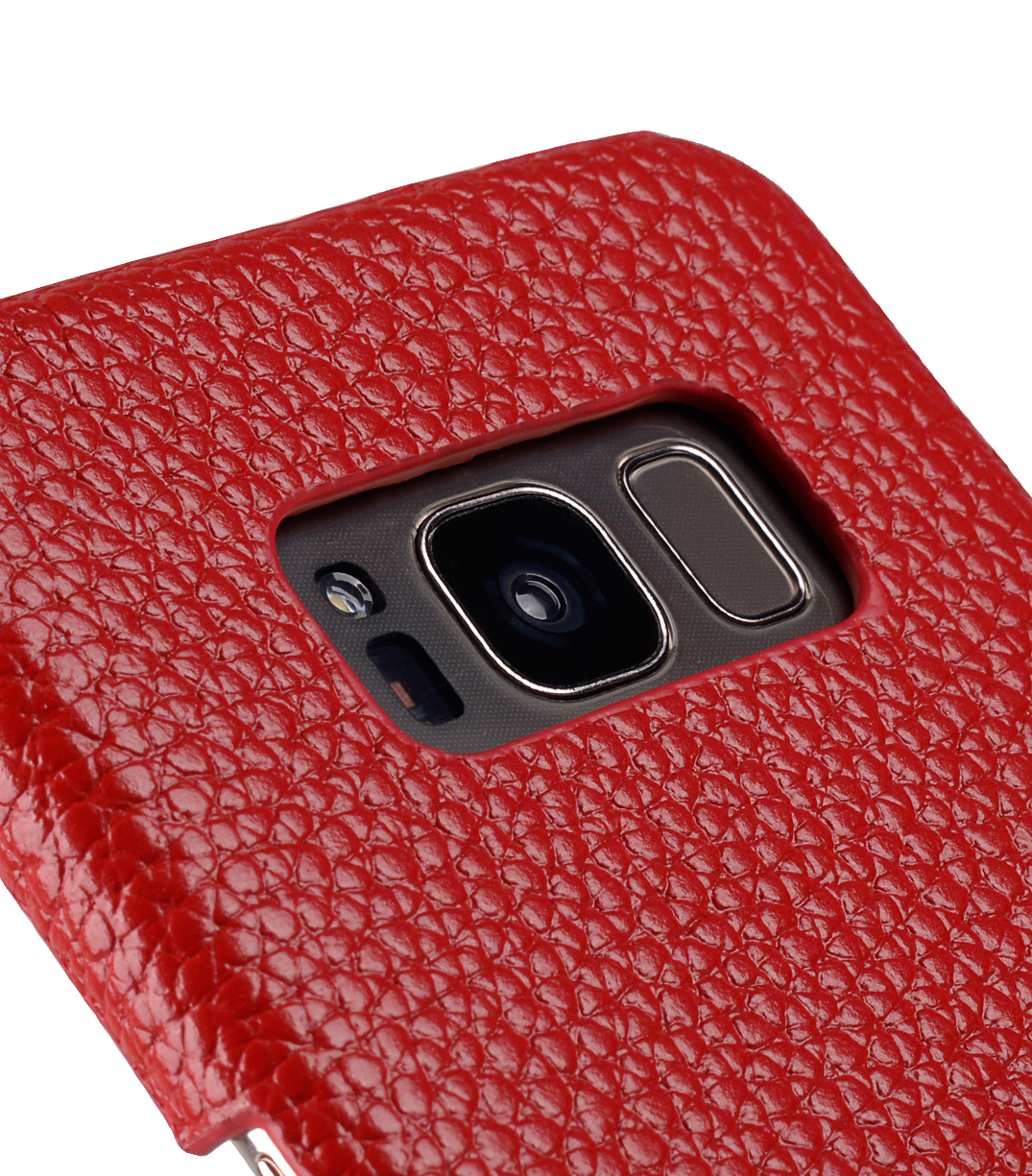 Melkco Premium Leather Card Slot Back Cover V2 for Samsung Galaxy S8 - ( Red LC )
