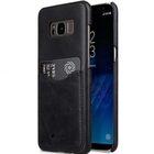 Melkco Premium Leather Card Slot Back Cover V2 for Samsung Galaxy S8 – ( Vintage Black )