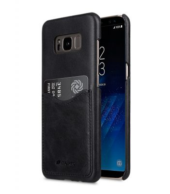 Melkco Premium Leather Card Slot Back Cover V2 for Samsung Galaxy S8 - ( Vintage Black )
