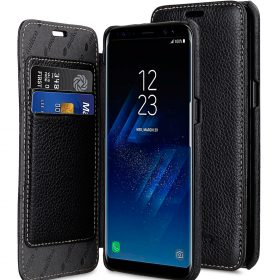 Melkco Premium Leather Case for Samsung Galaxy S8 – Face Cover Book Type ( Black LC )