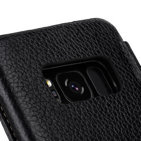 Melkco Premium Leather Case for Samsung Galaxy S8 Plus – Face Cover Book Type ( Black LC )