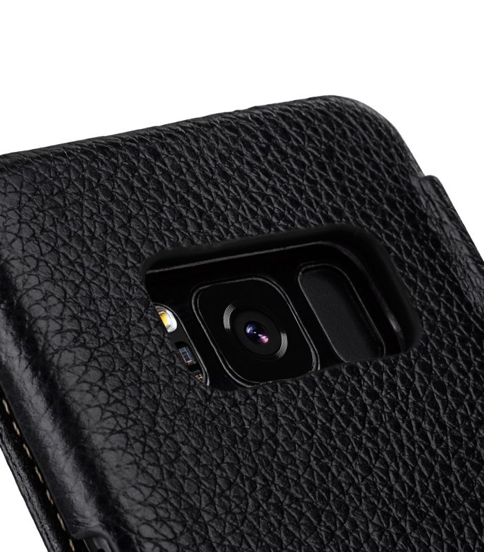 Melkco Premium Leather Case for Samsung Galaxy S8 - Face Cover Book Type ( Black LC )