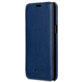 Melkco Premium Leather Case for Samsung Galaxy S8 Plus – Face Cover Book Type ( Dark Blue LC )