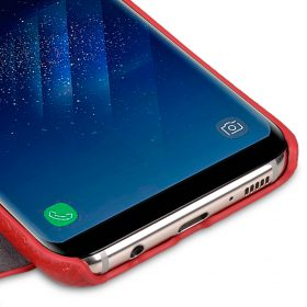 Melkco Premium Leather Case for Samsung Galaxy S8 – Face Cover Book Type ( Red LC )