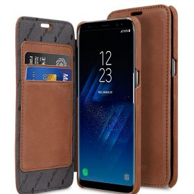 Melkco Premium Leather Case for Samsung Galaxy S8 – Face Cover Book Type (Classic Vintage Brown)