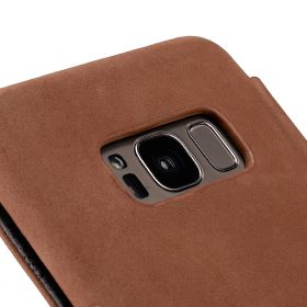 Melkco Premium Leather Case for Samsung Galaxy S8 Plus – Face Cover Book Type (Classic Vintage Brown)